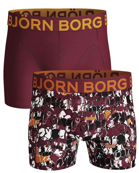 Billede af Björn Borg 2-pack Trunks Dark Red and Pattern Shorts (long) 1931-1237 40501