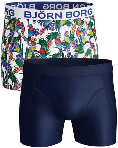 Billede af Björn Borg 2-pack Trunks Pattern and Blue Shorts (long) 1921-1156 00071