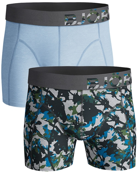 Billede af Björn Borg 2-pack Trunks Pattern and light Blue Shorts (long) 1831 1080 90591