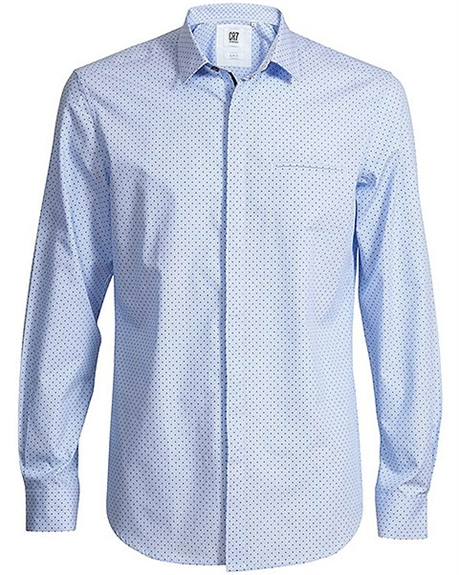 Billede af CR7 Shirts Slim fit Blue with Blue Dots 8640 72 315