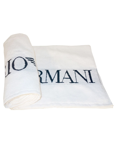 Billede af Emporio Armani Woven Gigantic White Beach Towel 110800 8P591 00010