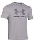 Billede af Under Armour grå Charged Cotton Logo T-Shirt 1257615 025