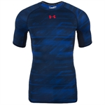 Billede af Under Armour HeatGear Blå Armour Kompressions T-shirt 1257477 408