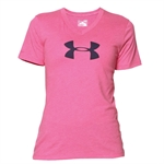 Billede af Under Armour Women's Charged Cotton Tri-Blend Logo V-Neck 1259476-652
