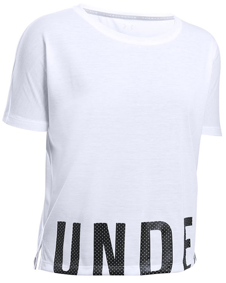 Billede af Under Armour Women's White V-Neck Train Oversize 1290676 100